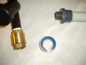 Tauchpumpenanschlußstück mit PVC Rohr